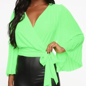Fashion Nova XS Neon Wrap atop